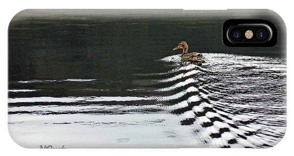 Duck On Ripple Wake IPhone Case