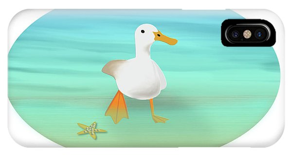 Duck Paddling At The Seaside IPhone Case