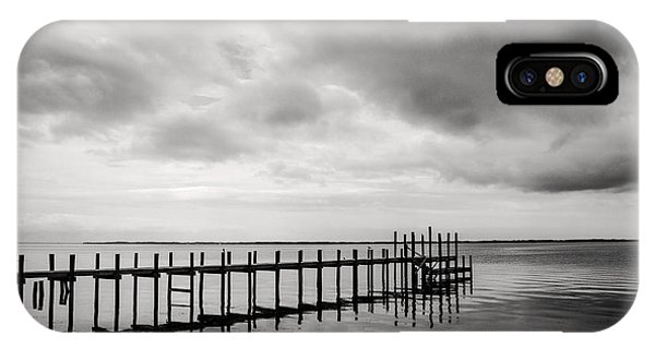 Duck Pier In Black And White IPhone Case