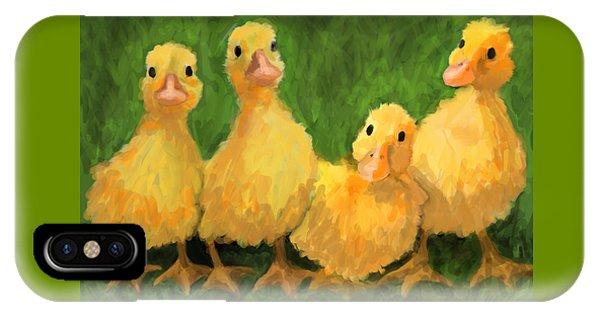 Fuzzy Duckies Phone Case by David Burgess