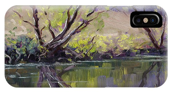 Nature Scene iPhone Case - Duckmaloi River Reflections by Graham Gercken