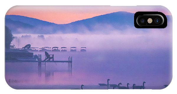 Ducks Under Fog IPhone Case