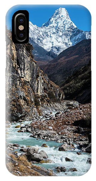 IPhone Case featuring the photograph Dudh Kosi River By Ama Dablam by Owen Weber