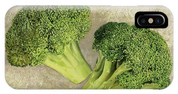 Broccoli iPhone Case - Due Broccoletti by Guido Borelli