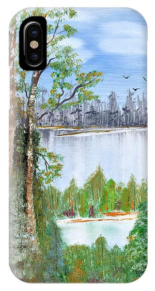 Dueling Lakes IPhone Case
