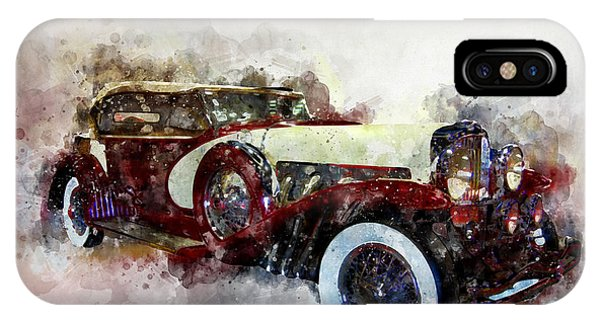 Duesenberg Watercolor IPhone Case