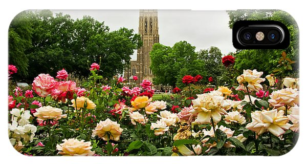 Duke Chapel And Roses IPhone Case