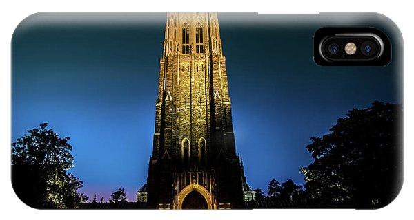 Duke Chapel Lit Up IPhone Case