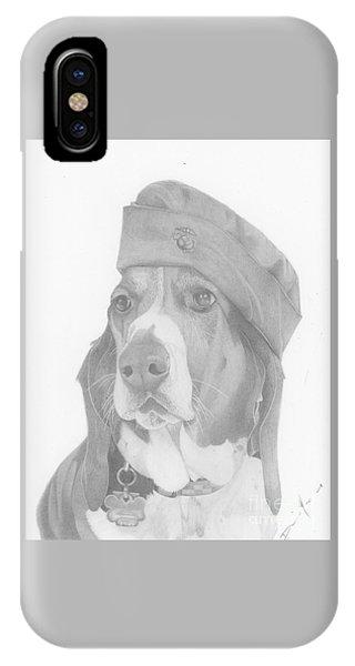 Duke Dog Drawing IPhone Case