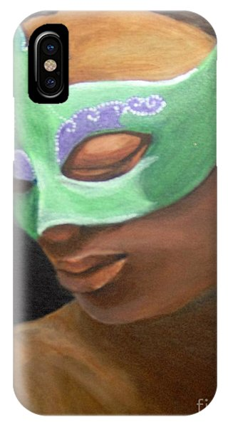 IPhone Case featuring the painting Dunbar's Mask by Saundra Johnson