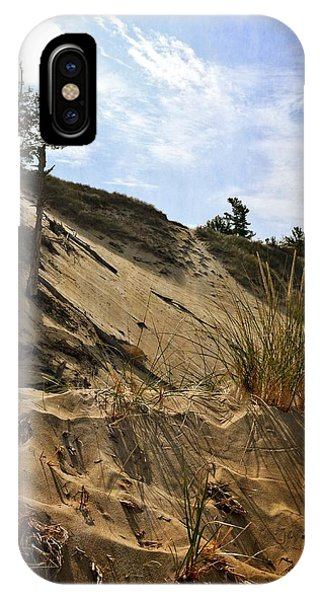 IPhone Case featuring the photograph Dune And Blue Sky by Michelle Calkins