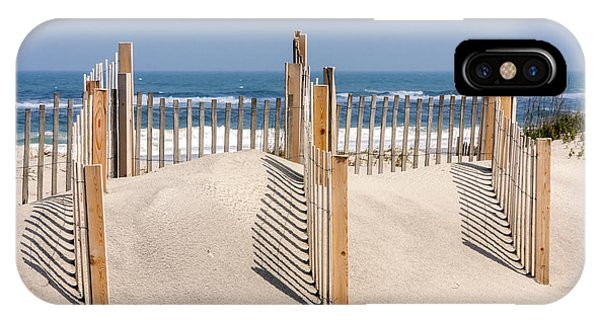 Dune Fence Landscape IPhone Case