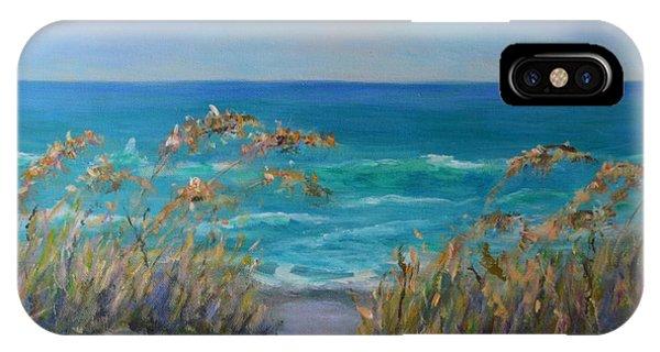 Dunes Path Ocean Painting Part 1 IPhone Case