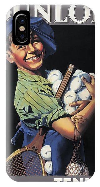 Dunlop Tennis Ball Boy  C. 1920 IPhone Case