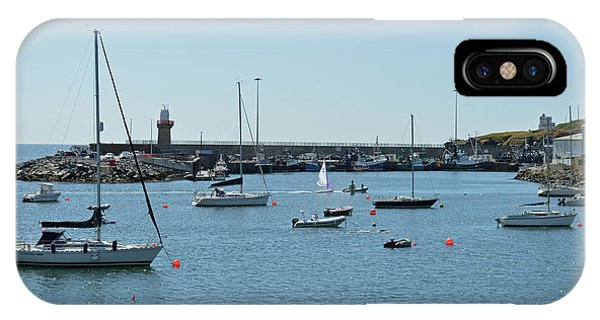 Dunmore East iPhone Case - Dunmore East Harbour. by Terence Davis