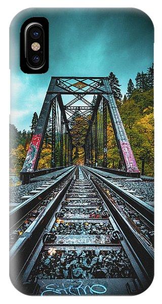 Train Tracks iPhone Case - Dunsmir Bridge by Kyle Duffy