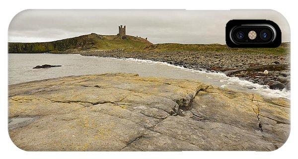 Castle iPhone X Case - Dunstanburgh Castle by Smart Aviation
