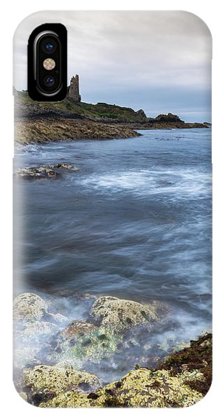 Castle iPhone X / XS Case - Dunure Castle Scotland  by Mark Mc neill