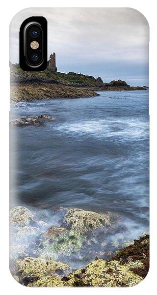 Castle iPhone X Case - Dunure Castle Scotland  by Mark Mc neill