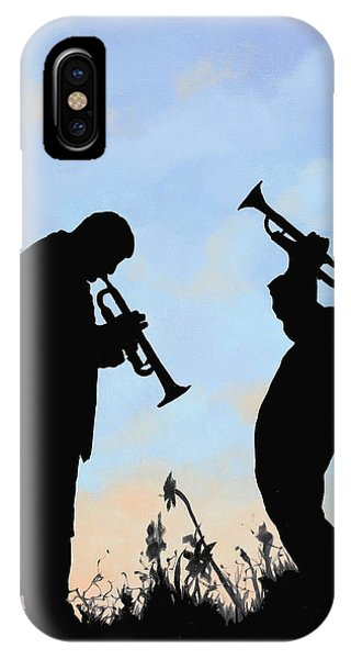 Trumpet iPhone Case - duo by Guido Borelli