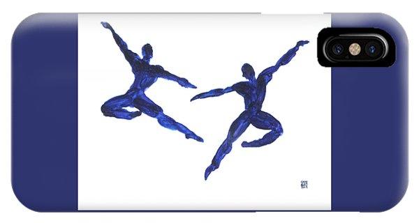 Duo Leap Blue IPhone Case