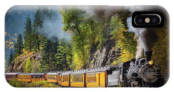 Train Tracks iPhone Case - Durango-silverton Narrow Gauge Railroad by Inge Johnsson