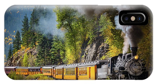Train iPhone X Case - Durango-silverton Narrow Gauge Railroad by Inge Johnsson