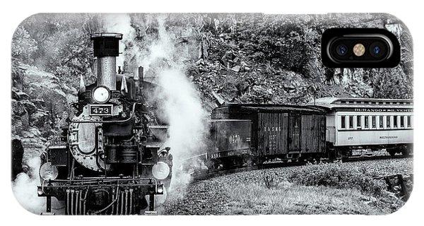 Durango Silverton Train Bandw IPhone Case