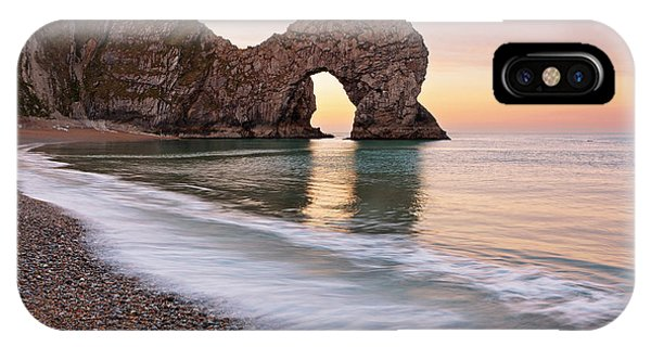 Durdle Door First Light Phone Case by Richard Thomas