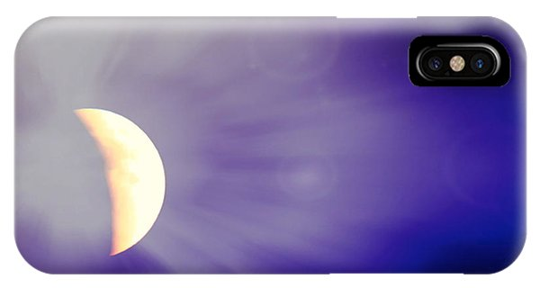 Aries Moon During The Total Lunar Eclipse 3 IPhone Case