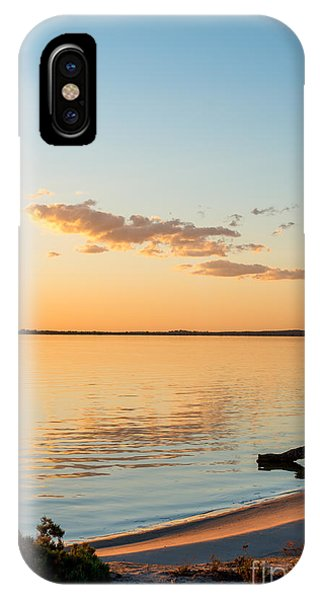 IPhone Case featuring the photograph Dusk At Lake Bonney by Ray Warren