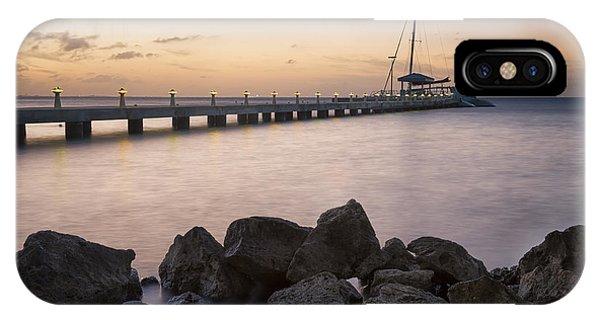 Catamaran iPhone Case - Dusk At Rum Point Grand Cayman by Adam Romanowicz