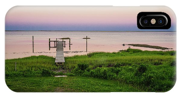 Dusk At Battle Point, Accomac, Virginia IPhone Case