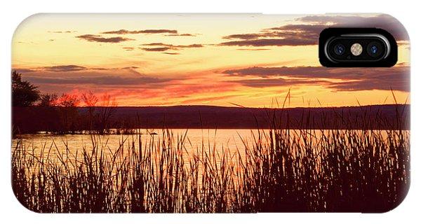 dusk on Lake Superior IPhone Case
