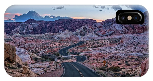 Valley Of Fire iPhone Case - Dusk On The Open Road by Rick Berk