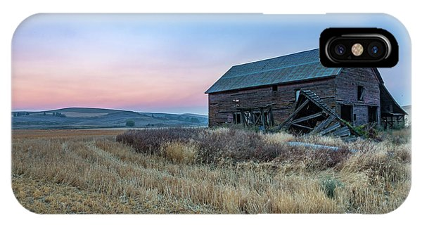 Dusk Setting On A Palouse Barn IPhone Case