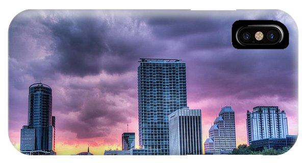 Dusky Downtown Orlando, Florida IPhone Case