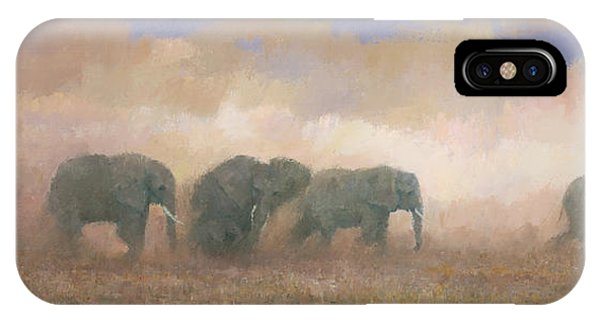IPhone Case featuring the painting Dust Riders by Steve Mitchell