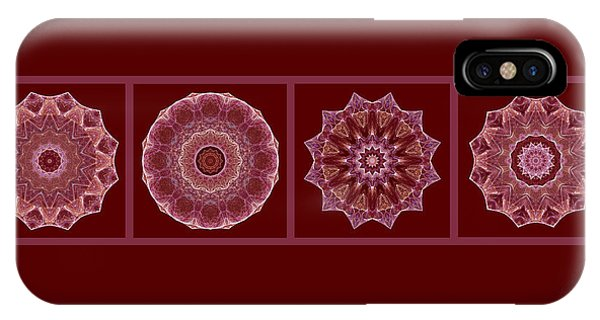 Dusty Rose Mandala Fractal Panel IPhone Case