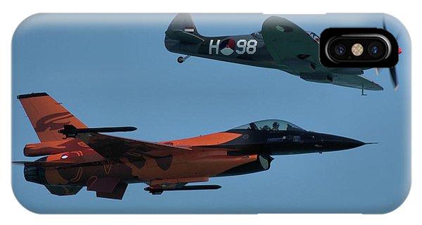 Dutch F-16 And Spitfire IPhone Case
