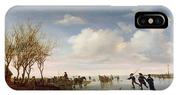 Dutch Landscape With Skaters IPhone Case
