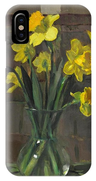 Dutch Master Narcissus In An Hourglass Vase IPhone Case