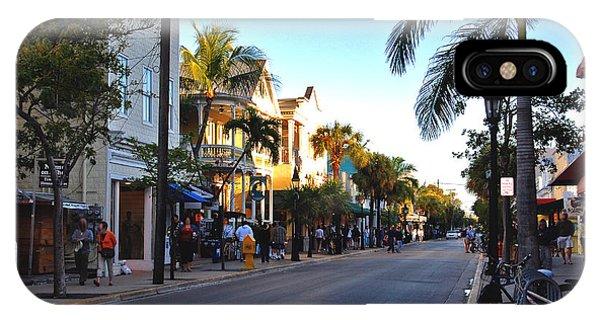 Duval Street In Key West IPhone Case