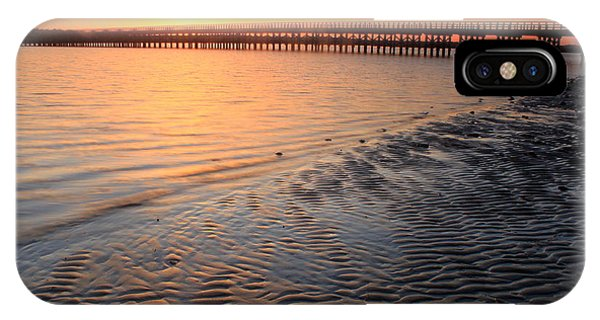 Duxbury Beach Powder Point Bridge Sunset IPhone Case