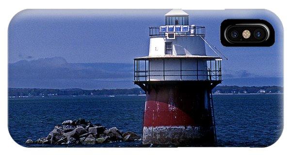 Lighthouse Wall Decor iPhone Case - Duxbury Pier Lighthouse Ma by Skip Willits