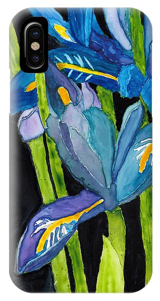 Dwarf Iris Watercolor On Yupo IPhone Case
