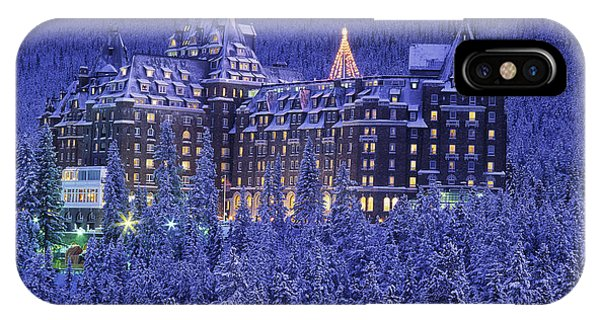 D.wiggett Banff Springs Hotel In Winter IPhone Case