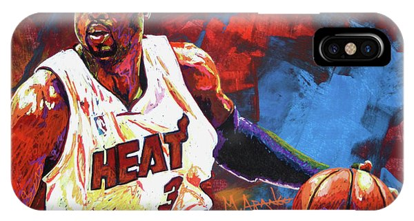 Marquette iPhone Case - Dwyane Wade 2 by Maria Arango