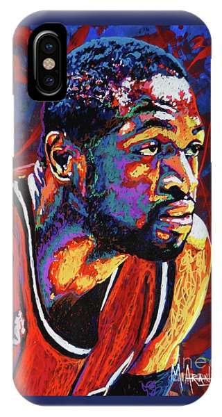 Marquette iPhone Case - Dwyane Wade 3 by Maria Arango