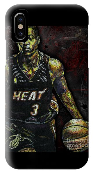 Marquette iPhone Case - Dwyane Wade by Maria Arango